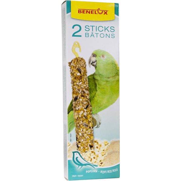 חטיף זרעים לתוכים גדולים עם פופקורן