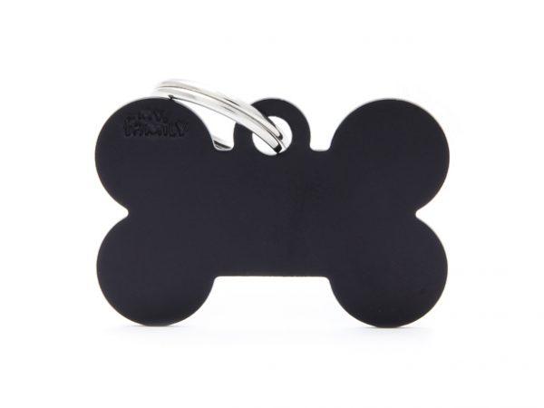 BIG BONE ALUMINUM BLACK Dog Tag