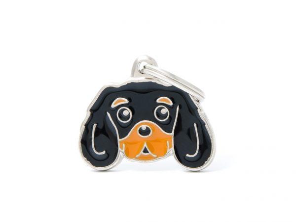 Cavalier King Charles Spaniel black and tan Dog Tag