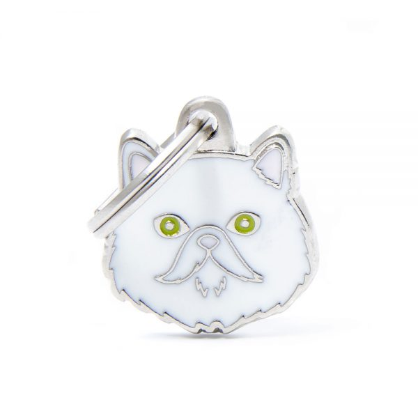 Persian-White-Cat-Tag-ID