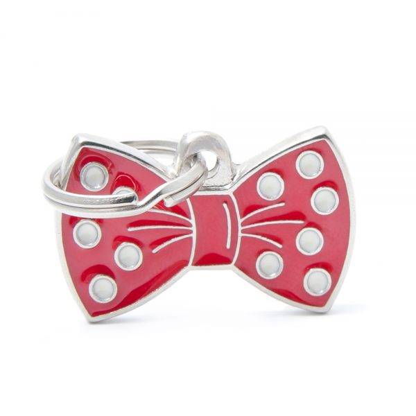 Red Bow Tie Pet Tag Id