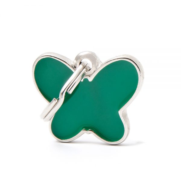 Green Butterfly Pet ID Tag