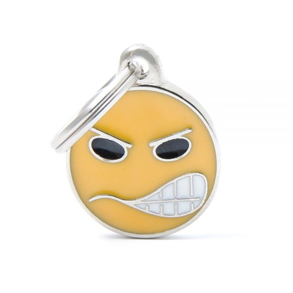 Angry Emoticon Pet Tag