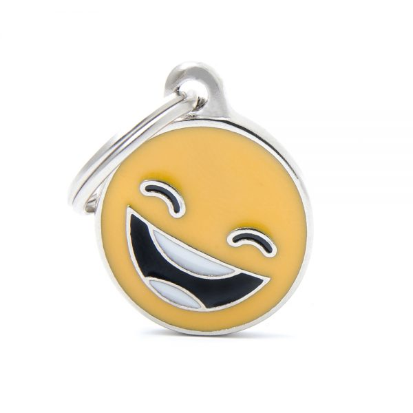 Smiling Emoticon Pet Tag