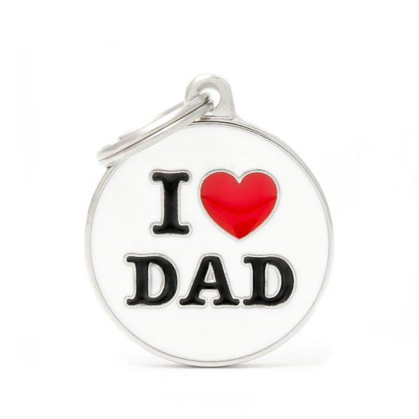 I Love Dad Pet Tag ID