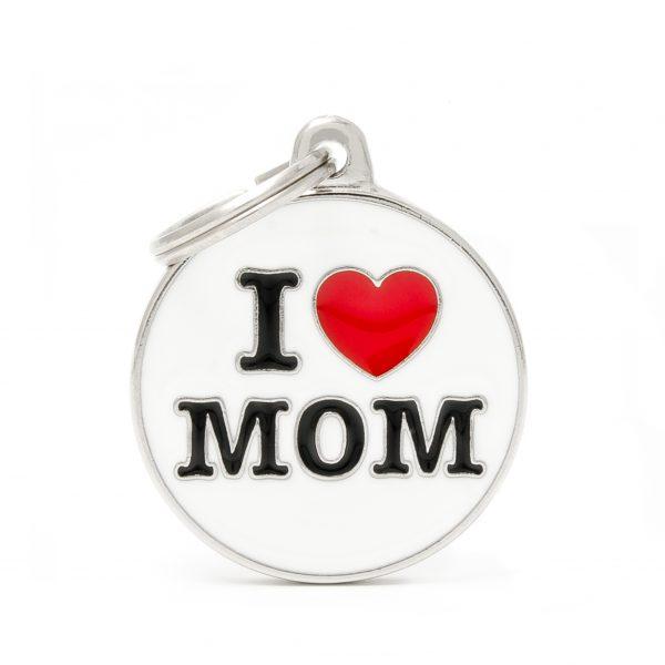 I Love Mom Pet Tag ID