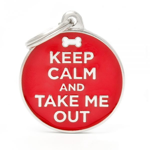 Keep Calm and Take Me Out Pet ID Tag